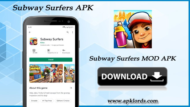 Swift through rails with Subway Surfers MOD APK!