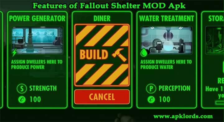 fallout shelter features