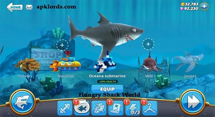 Hungry Shark World Mod apk Cheat