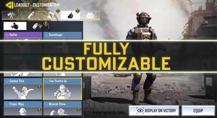 COD Mobile Fully Customizable