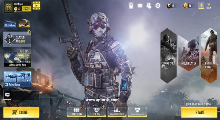Call of Duty Mobile Lobby