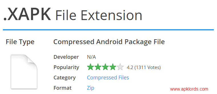 XAPK File Extension