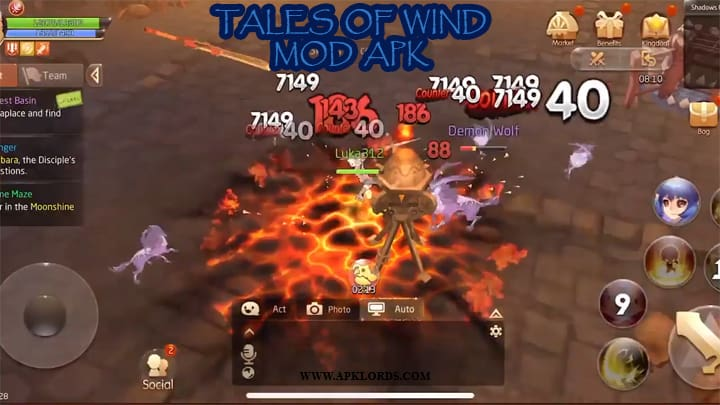 tales of wind gameplay