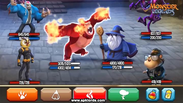 monster legends mod apk unlimited gems and food